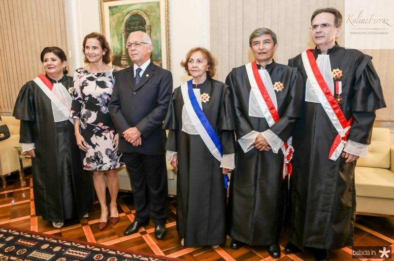 Regina Nepomuceno, Izouda Cela, Brito Pereira, Maria Jose Giaro, Plauto Porto e Emanoel Furtado