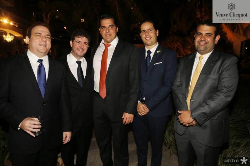 Rodrigo Coelho, Eduardo Brandao, Carlos Dummar, Ednardo Rodrigues e Claudio Camara