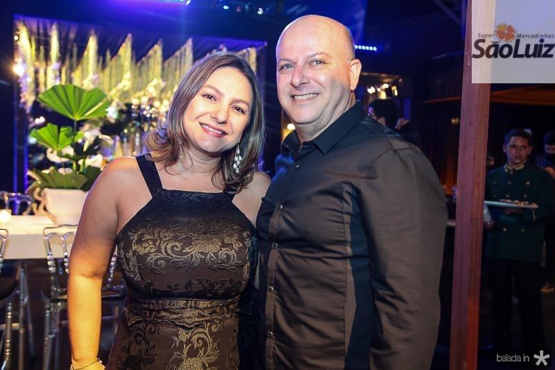 Eveline Oliveira e Alexandre Garcia