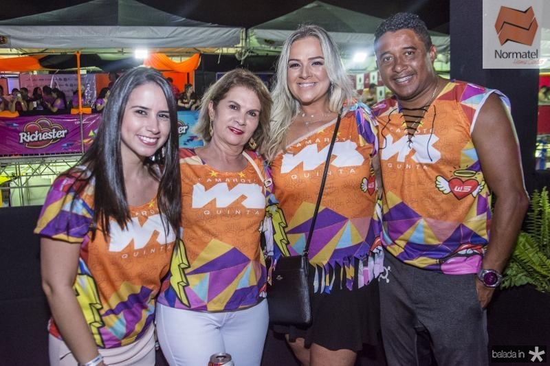 Ludimila Rodrigues, Arlene Rodrigues, Fernanda Pereira e Maciel Pereira