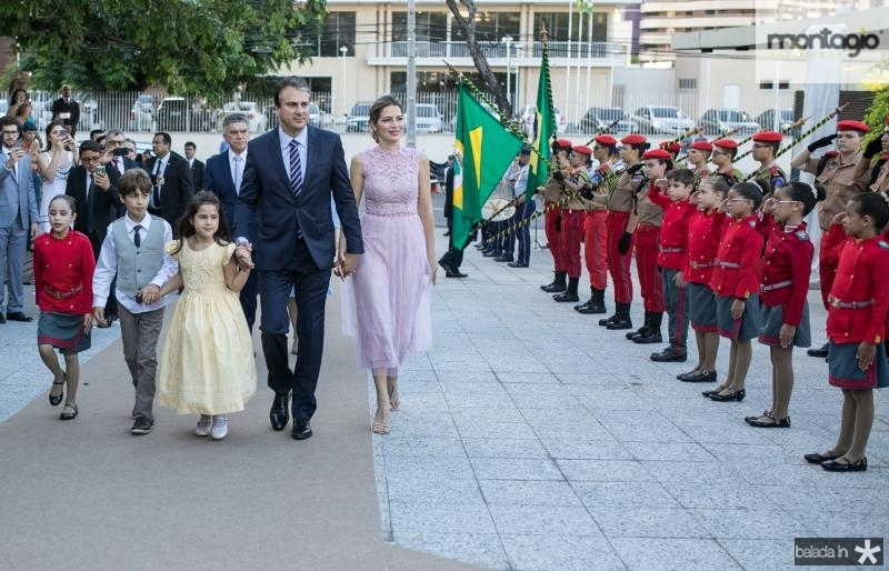 Pedro, Luiza, Camilo e Onelia Santana