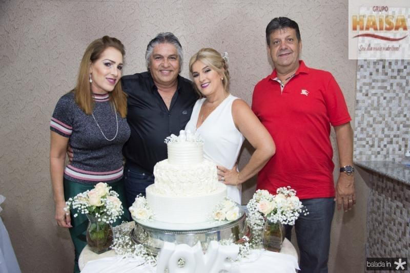 Silvana Aguiar, LC Moreira e Adriana Aguiar e Jorge Arruda