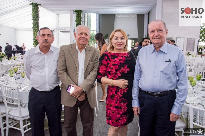 Cirilo Vidal, Flavio Saboia, Gorete Pereira e Rubens Studart