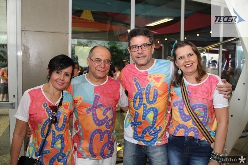 Elana e Jesualdo Farias, Barroso Neto e Andrea Barroso