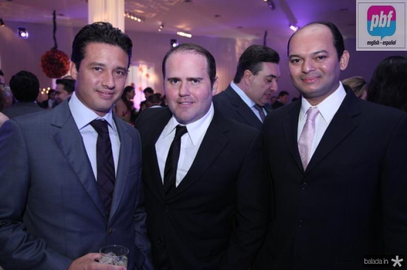 Marcelo Quindere, Roberto Pamplona e Otilio Ferreira