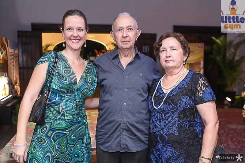 Juliana Moura, Paulo Cesar e Francilda Ribeiro
