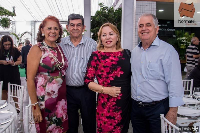 Fatima Duarte, Orlando Siqueira, Gorete Pereira e Antunes Mota