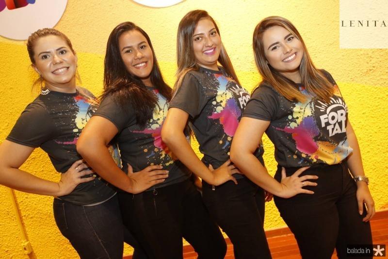 Camilla Machado, Vitoria Jessica, Joice Rocha e Amanda Galvao
