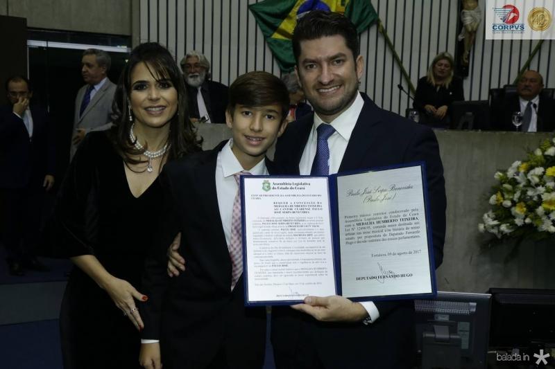 Camila, Paulinho e Paulo Jose Benevides