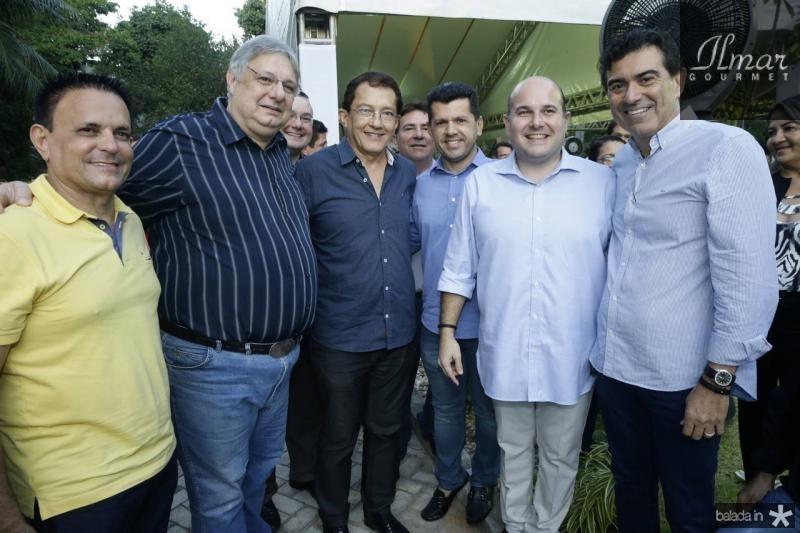 Placido Filho, Moroni Torgan, Elpidio Nogueira, Erick Vasconcelos, Roberto Claudio e Alexandre Pereira