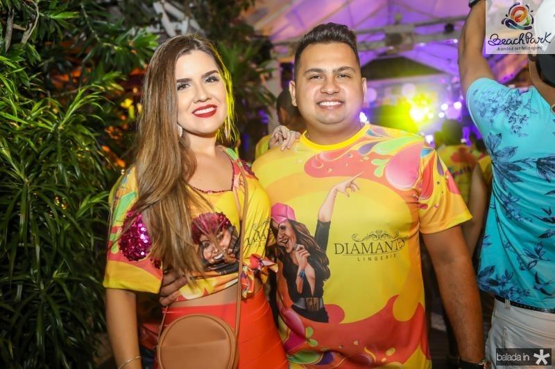 Angelica Moreira e Davi Nascimento