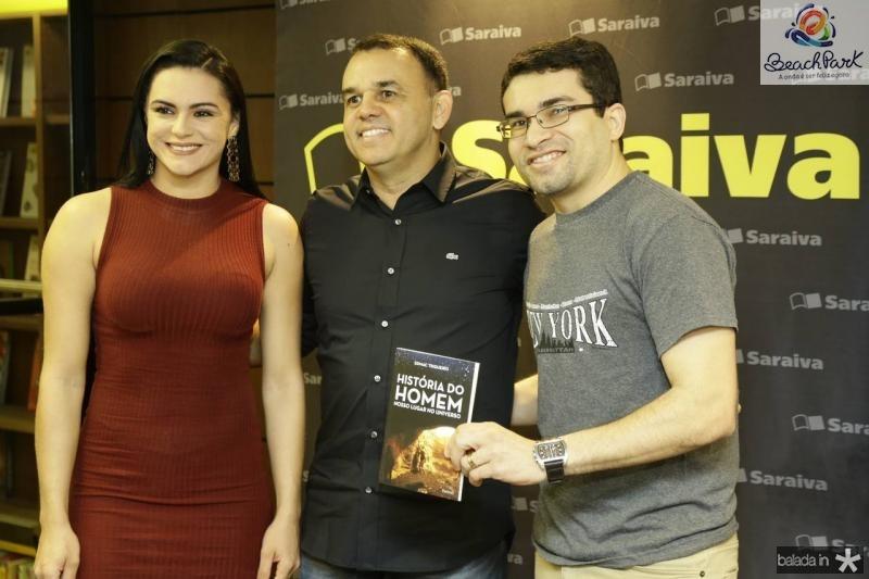 Juliana Albano, Edmac Trigueiro e Renato Albano