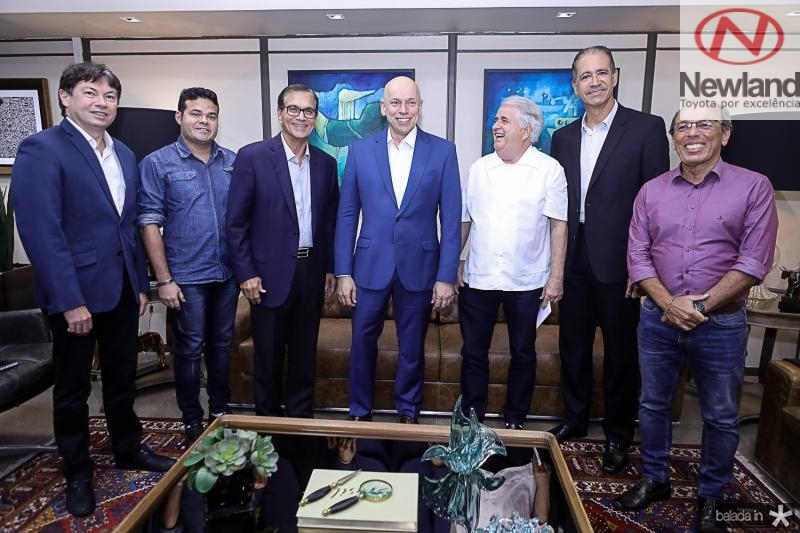 Edgar Gadelha, Demetrios Vieira, Beto Studart, Leandro Karnal, Jose Antunes, Regis Medeiros e Andre Montenegro
