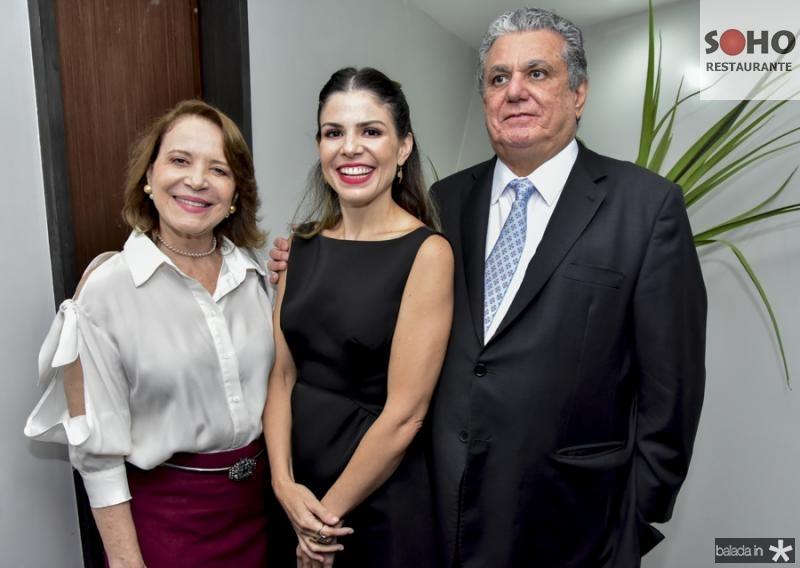 Socorro Queiroz, Carol Bezerra e Cleber Cunha