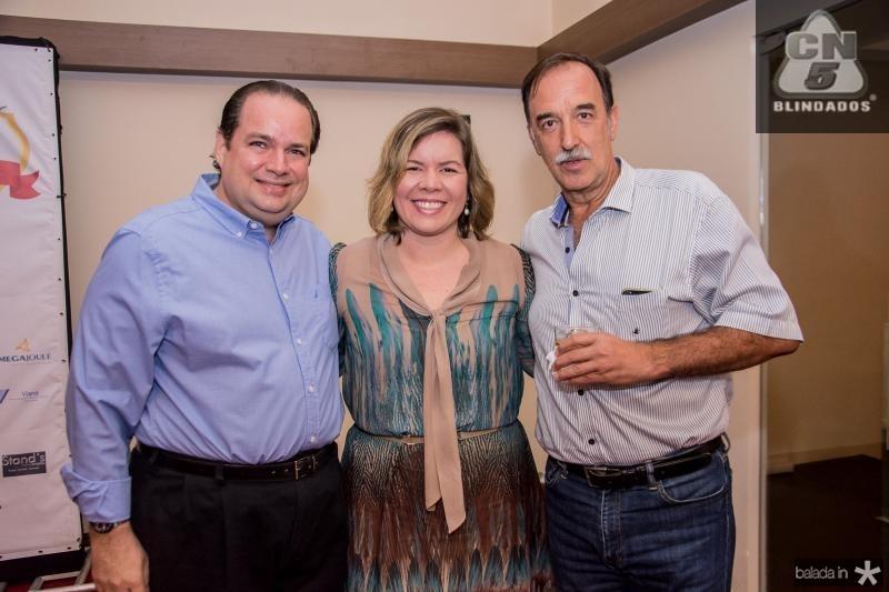 Manoel Fontenele, Melissa Fontenele e Armando Abreu