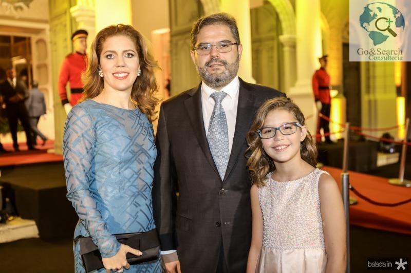 Ticiana, Edson e Beatriz Queiroz