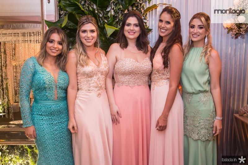 Alana Cinthia, Isadora Saldanha, Amanda Farias, Nicole Rios e Aline Fernandes