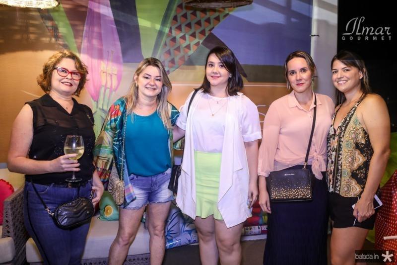 Cristiane Arco Verde, Vanusa Saboia, Isabel Paixao, Thais Gondim e Germana Passos