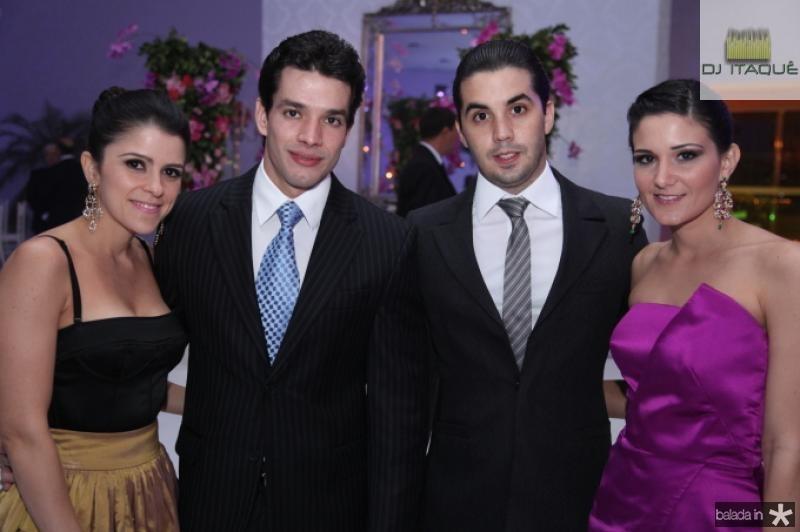 Tatiana Machado, Iury Oliveira, Netinho Bayde e Aline Bayde