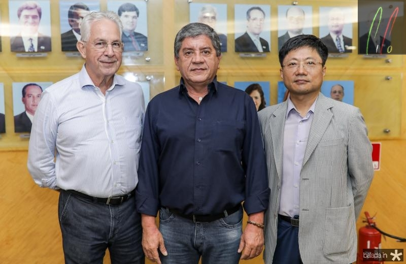 Carlos Prado, Sampaio Filho e Luis Min