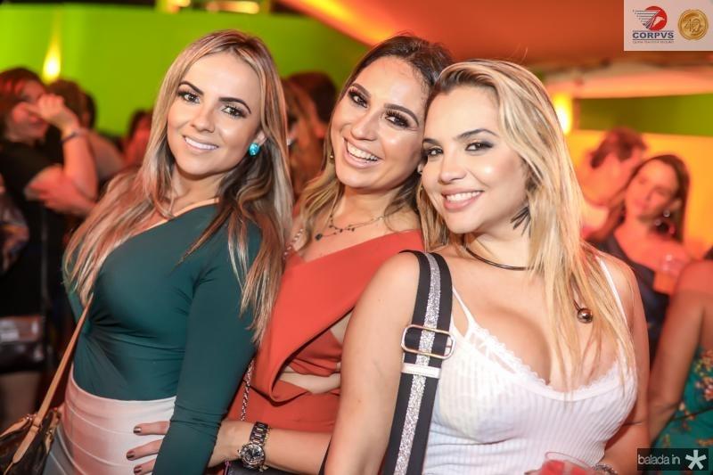 Adricia Cavalcante, Marcela Camurça e Risângela Lima