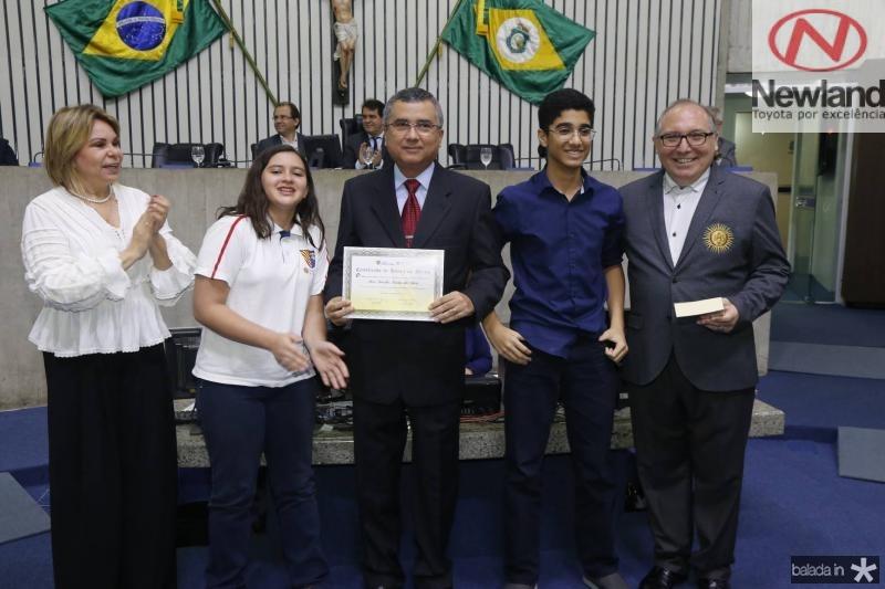 Albaniza Gomes, Clara Ventura, Jose Tarcilio, Renan Otoch e Padre Eugenio