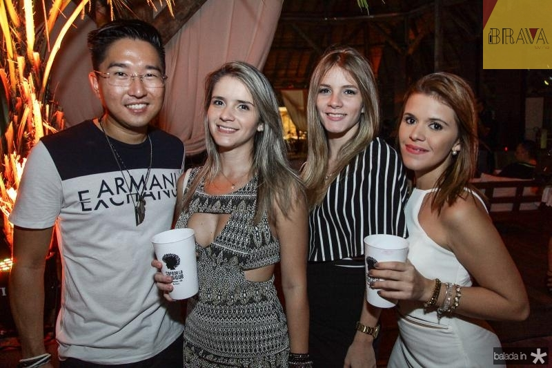 Marico Komoto, Eveline Bastos, Rebeca Rocha e Cristiane Nobre
