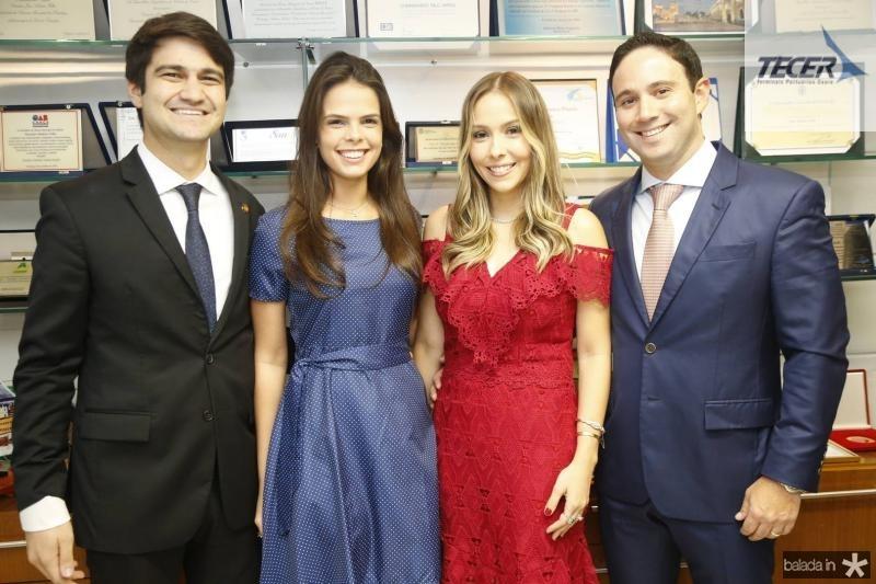 Maria Isabel, Pedro Gomes de Matos, Rafaela e Thiago Asfor