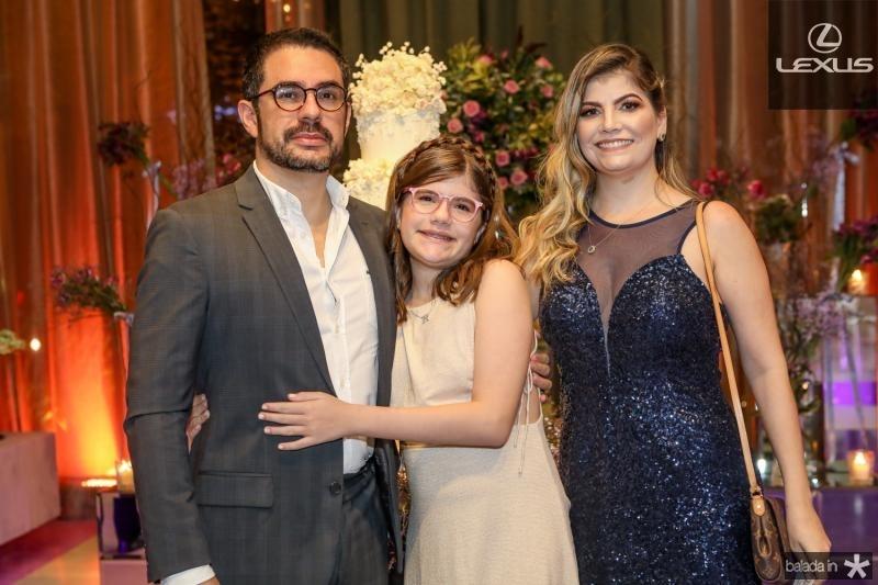 Alberto, Ilda e Rose Pinheiro