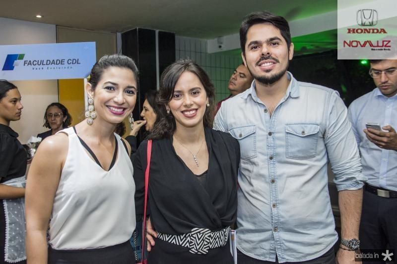 Jamila Araujo, Rafaela Carvalho e Pedro Lima