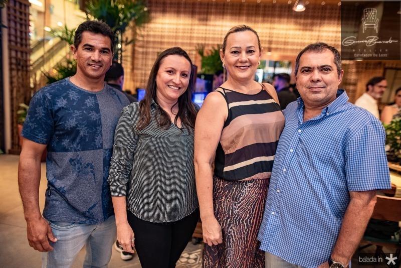 Fabiolio Rocha, Raquel Vieira, Rosa e Lauro Prado