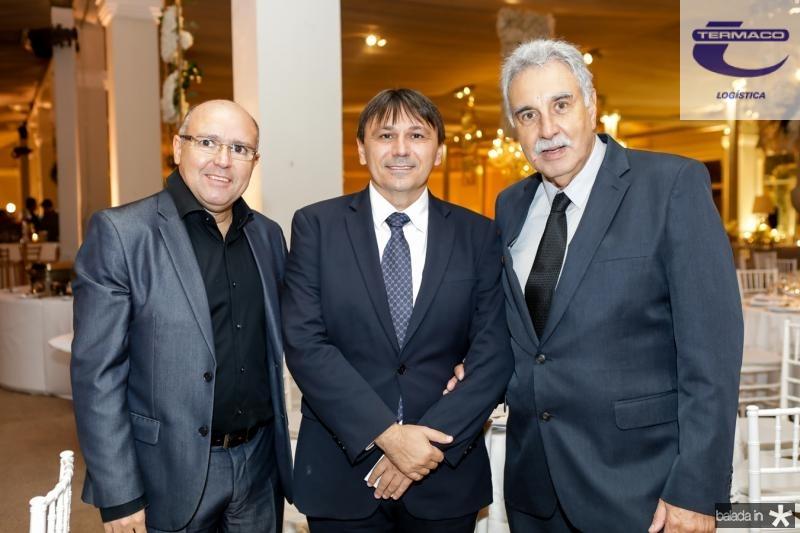 Milton Carneiro, Jocelio Parente e Cesar Roma
