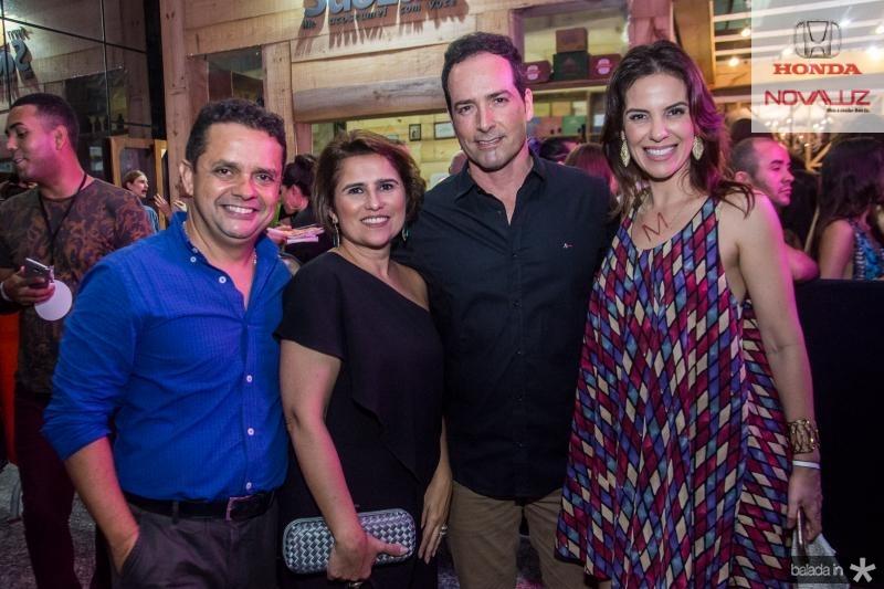 Germano Albuquerque, Micheline Albuquerque, Beto Sanford e Michele Sucupira