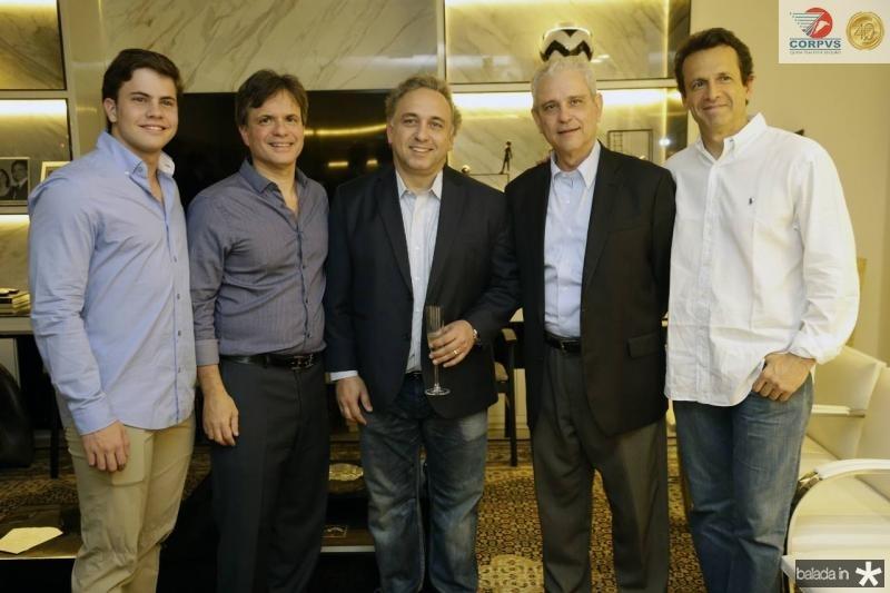 Diego e Andre Juca, Laurentino Bicas, Marcos Avila e Sergio Pimentel
