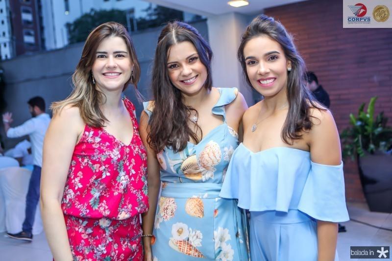 Cibelle Nunes, Priscila Becco e Raissa Chaves