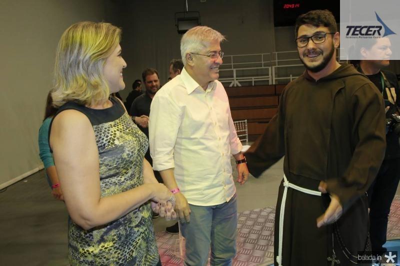 Simone Moraes, Paulo Cesar Noroes e Frei Walter Malvera