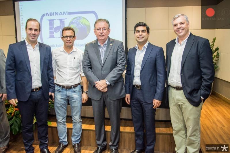 Cesar Ribeiro, Antonio Vidal, Ricardo Cavalcante, Queiroz Filho e Lucas Ferianci