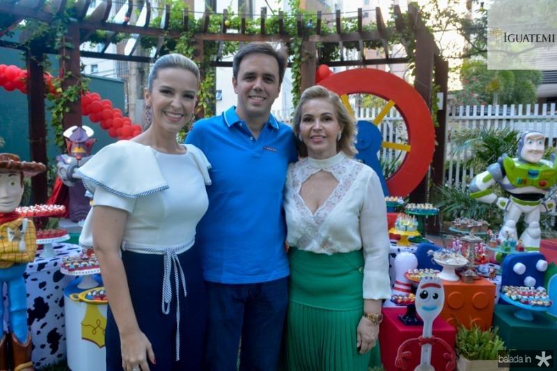 Naiana, Philomeno Neto e Sandra Barreto