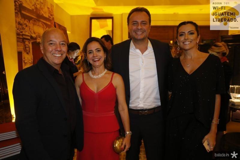 Marco Oliva, Natalia Abreu, Adriano Nogueira e Nara Oliveira