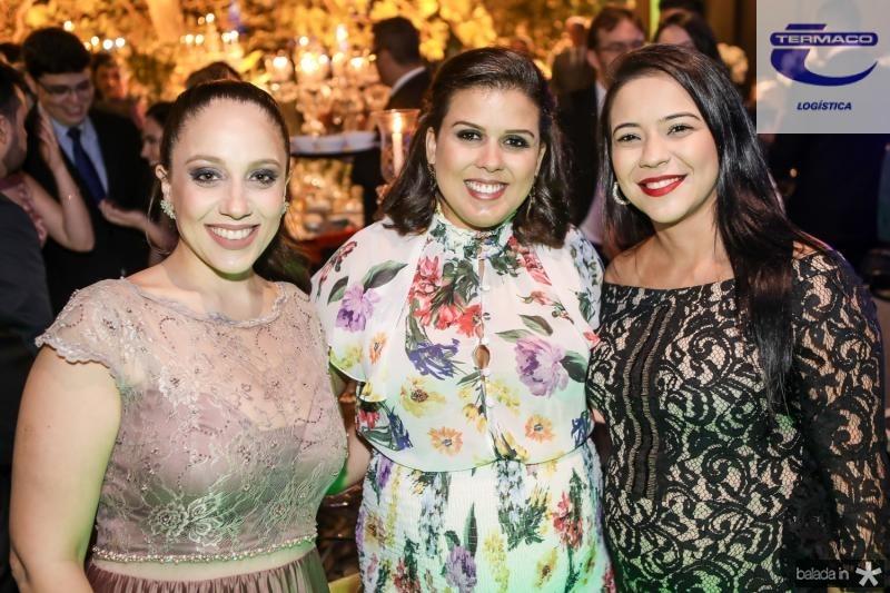 Rebeca Lemos, Livia Cabral e Natalia Aguiar
