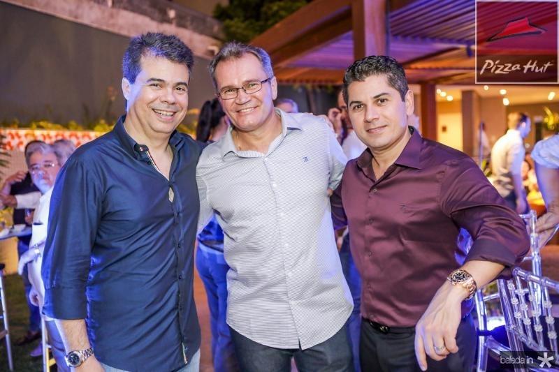 Duda Brigido, Sergio Macedo e Pompeu Vasconcelos