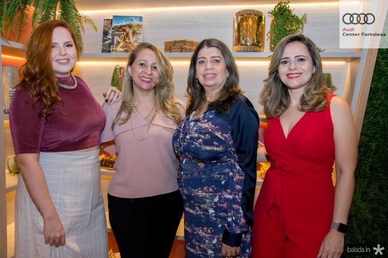 Renata Reis, Caroline Torquato, Socorro Silveira e Maria Coutinho