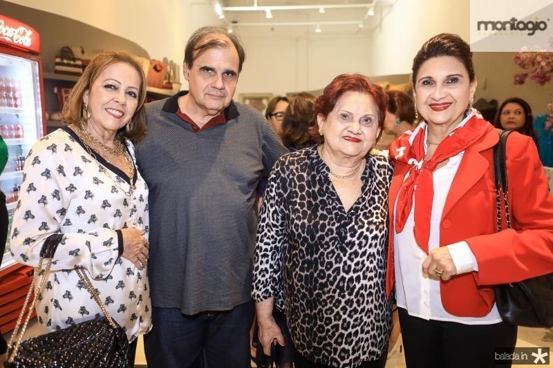 Rosinha Gomes, Eduardo Queiroz, Clea Queiroz e Monaliza Gentil