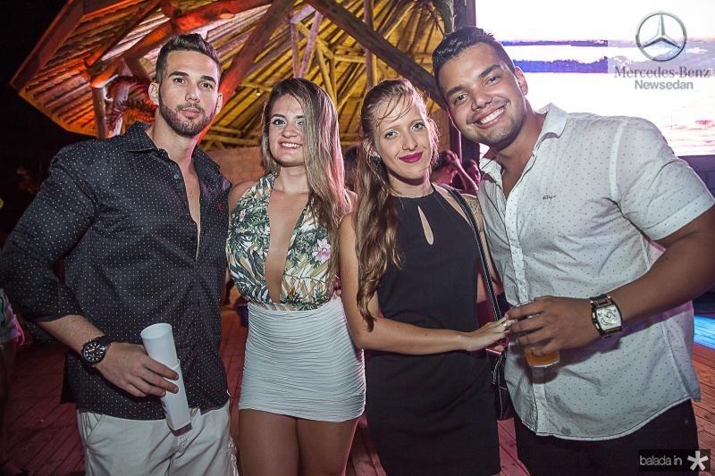 Edson Frota, Laila Busson, Samanta Bizol e Marcos Assunção