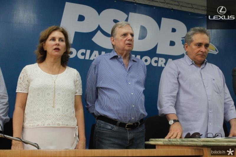 Renata e Tasso Jereissati e Luiz Pontes