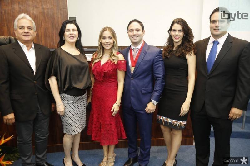 Marcilio e Silvinha Fiuza, Rafaela e Thiago, Renata e David Asfor