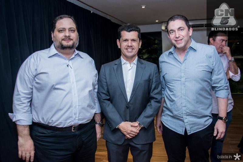 Reinaldo Salmito, Erick Vasconcelos e Rodrigo Pereira