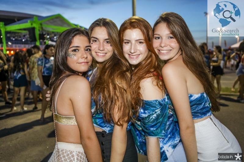 Andressa Frota, Fernanda Queiroz, Carolina Bezerra e Julia Cabral