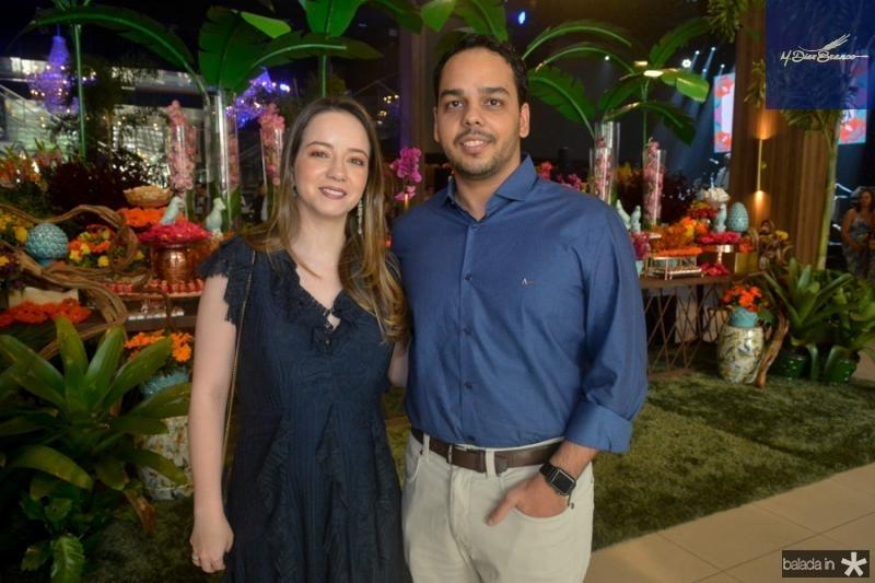 Carolina Muratori e Rafael Negreiros