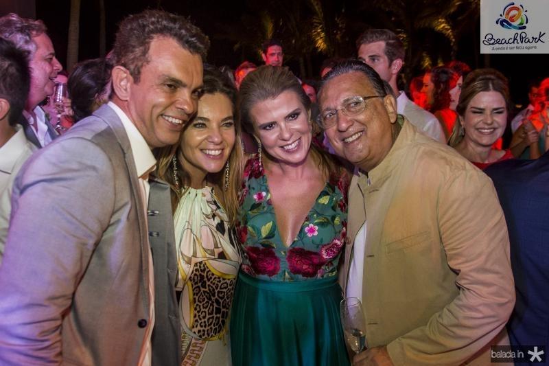 Fred Pinto, Desirée Soares, Alexandra Pinto e  Galvao Bueno